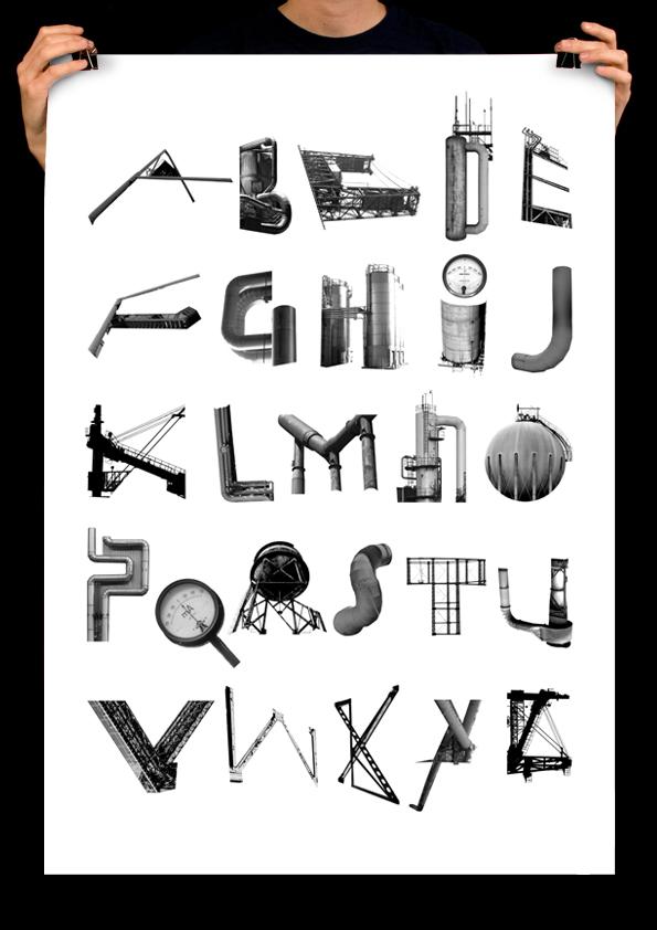 Industrial Alphabet By Kalle Hagman