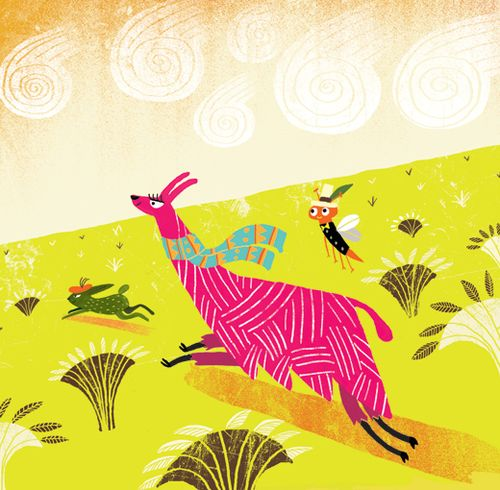 Llama-and-hare-running-in-pampas3
