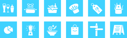 Fine cooking icons